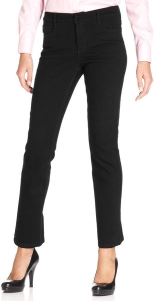 Jones New York Signature Jeans Lexington Straightleg Studded Jeans Black Rinse - Lyst
