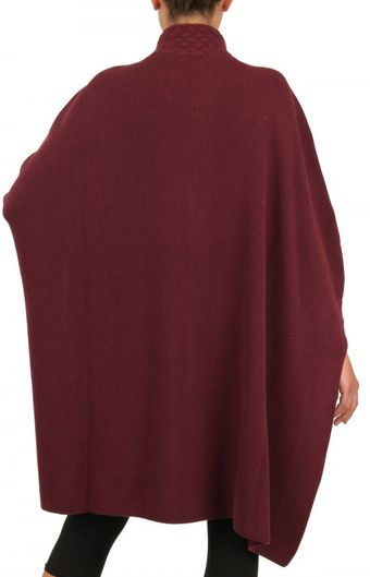 Laura G Ribbed Knit Cape - Lyst