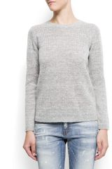 Mango Angora Jumper in Gray (gunmetal) - Lyst