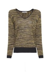 Mango Lurex Wool Asymmetric Jumper - Lyst