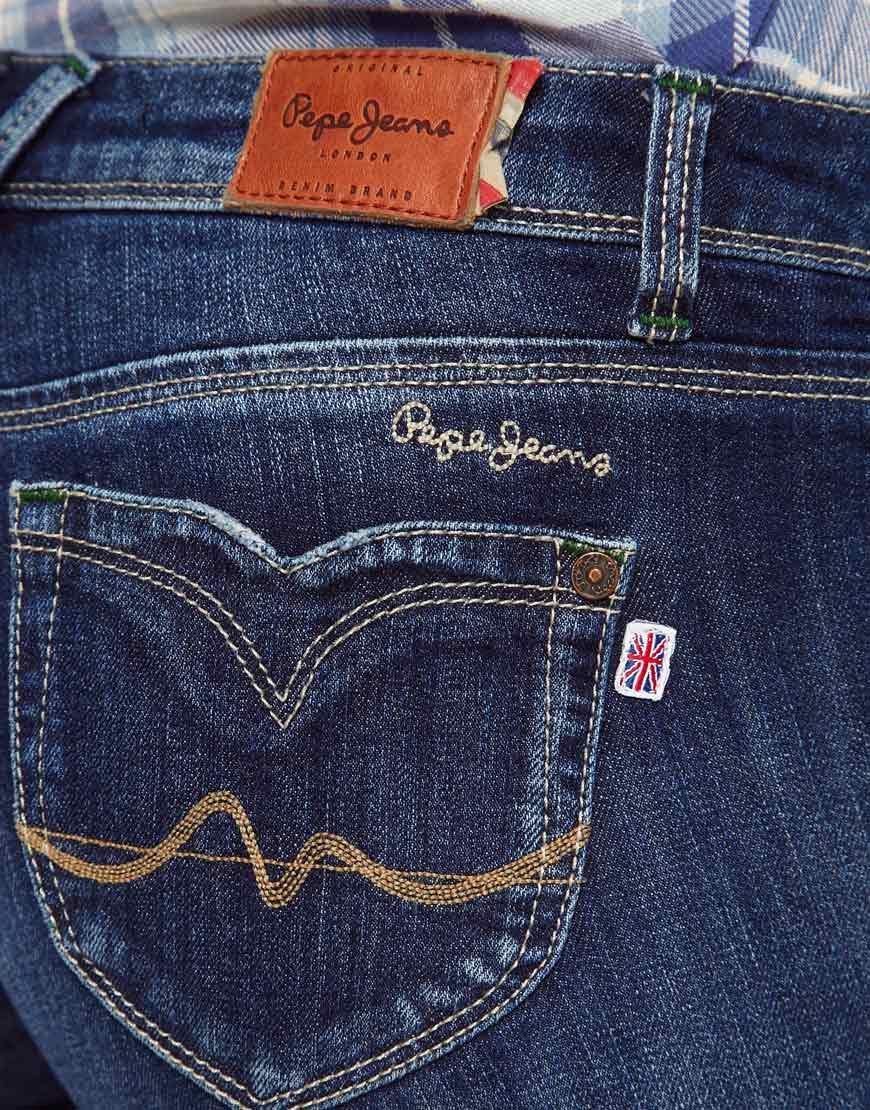 pepe jeans short denim shorts in blue lyst. Black Bedroom Furniture Sets. Home Design Ideas