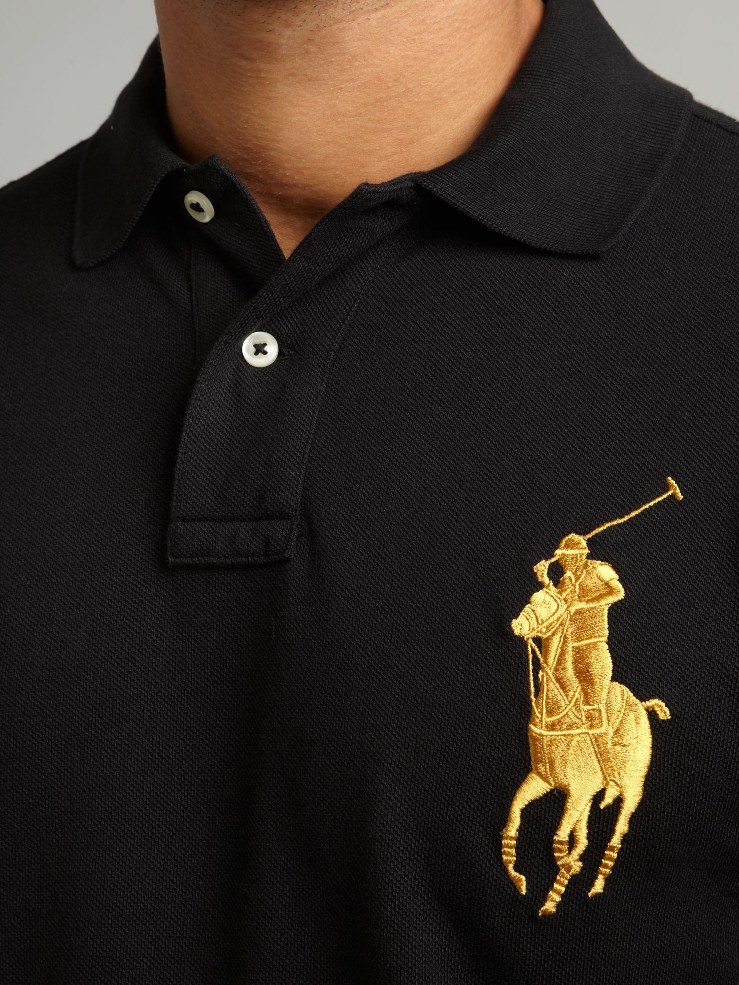 Ralph Lauren Green White Big Pony Polo Men