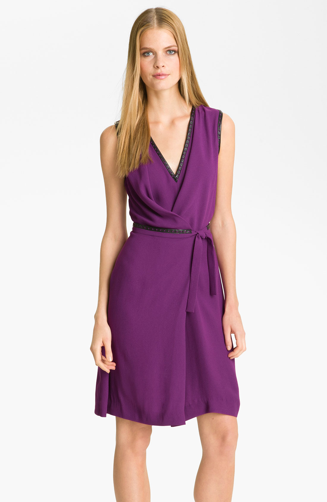 Crepe Faux Wrap Dress
