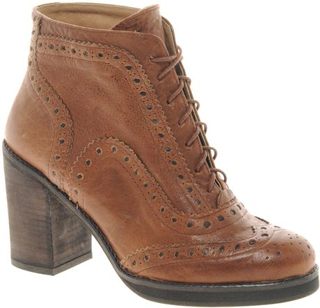 river island brogue ankle boots in brown lyst
