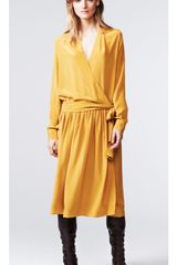 Thakoon Addition Long Sleeve Wrap Dress - Lyst