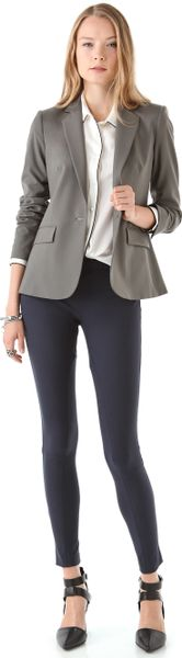 Theory Gabrielle Tailor Blazer in Silver