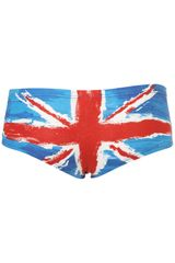 Topshop Union Jack Painted Cheeky Pants in Multicolor (multi) - Lyst