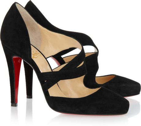 Christian Louboutin Suede Pumps in Black - Lyst