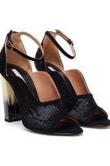 Dries Van Noten Ponyskin and Horn Pumps