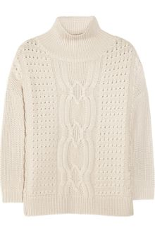 Duffy Cable-Knit Merino Wool Sweater - Lyst