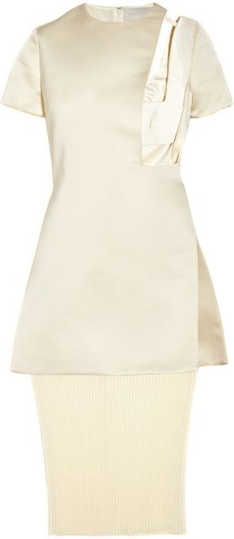 Esteban Cortazar Cutout Satin and Chiffon Bustier Dress - Lyst