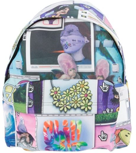 Jeremy Scott Collage Print Backpack in Multicolor for Men (multicoloured) - Lyst