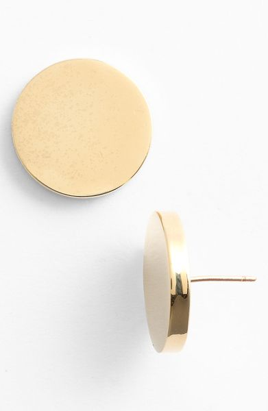 Kate Spade On The Dot Stud Earrings in Gold - Lyst