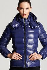 Moncler Bady Lacquer Hooded Short Down Coat - Lyst