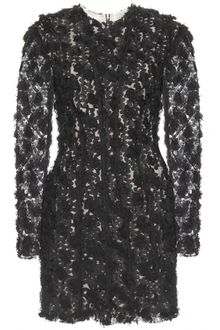 Nina Ricci Mesh Dress with Floral Embroidery - Lyst
