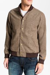 Obey Drop Back Tweed Varsity Jacket - Lyst