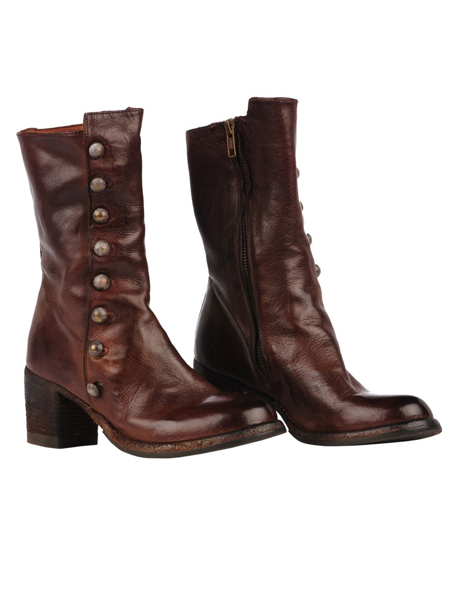 Officine Creative Leather Boots In Brown Sughero Lyst