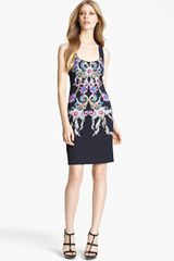 Roberto Cavalli Print Square Neck Dress - Lyst