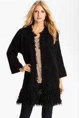 Tarnish Fringe Cardigan - Lyst