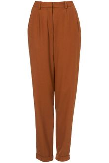 Topshop Tweed Tapered Leg Trousers - Lyst