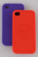 Tory Burch Fauxstitched Logo Iphone 4 Case - Lyst