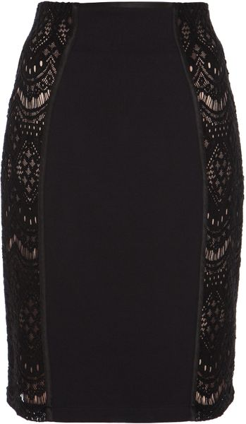 Alice By Temperley Dita Skirt in Black (black/nude) - Lyst