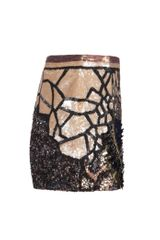 Allsaints Embellished Dreamcatcher Skirt in Black (petrol) - Lyst