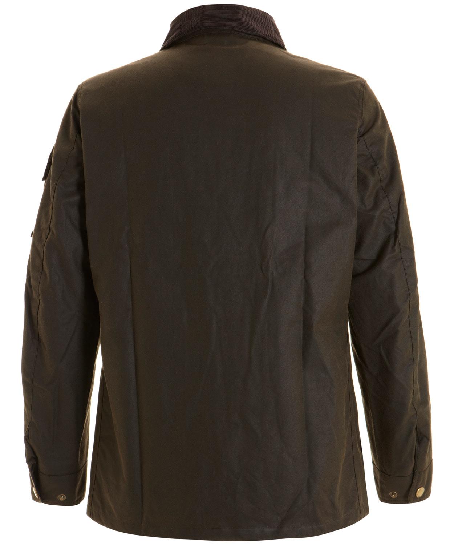 Barbour olive waxed longstone jacket in green for men lyst for Ka international tessuti arredamento