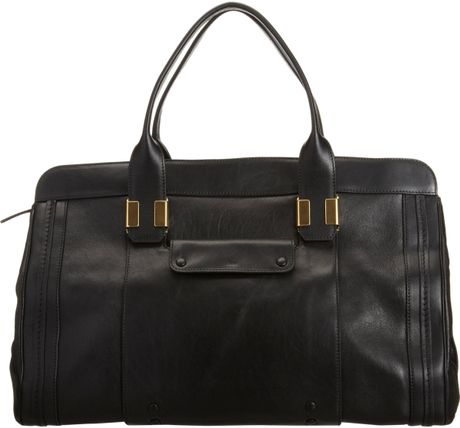 Chloé Large Alice Satchel in Black (gold) - Lyst