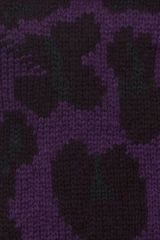Christopher Kane Intarsia Cashmere Fingerless Gloves in Purple (lilac) - Lyst