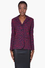 Christopher Kane Red Wool Leopard Blazer - Lyst