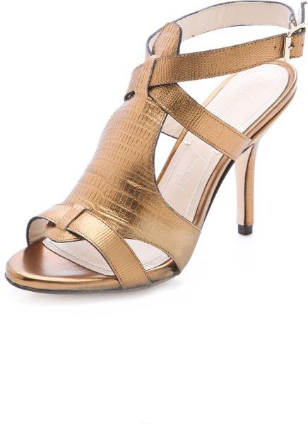Elizabeth And James Tango High Heel Sandals In Gold