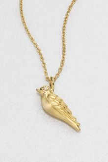Elizabeth And James Diamond Bird Pendant Necklace - Lyst