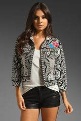 Free People New Romantics Native Whisper Jacket in Blackwhite Combo - Lyst