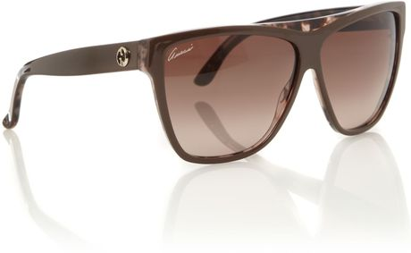 Gucci Ladies S Brown Havana Sunglasses in Brown - Lyst