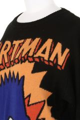 Jeremy Scott Bartman Wool Knit Jumper in Black (red) - Lyst