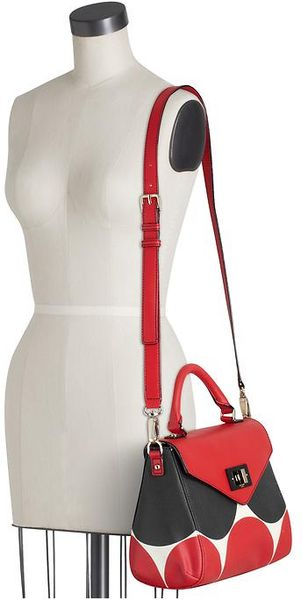 Kate Spade Deborah Dot Little Nadine in Red (red/black) - Lyst