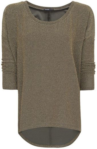 Mango Asymmetric Lurex Top - Lyst