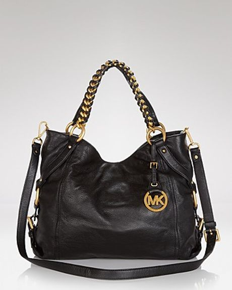 Michael Kors Michael Tote Tristan Large in Black - Lyst