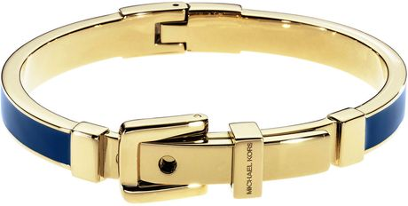 Michael Kors Buckle Bangle in Blue (one size) - Lyst