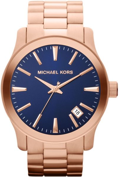 Michael Kors Mens Classic Watch in Gold for Men (rose gold)