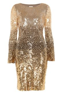 Temperley London Gold Leaf Dress - Lyst