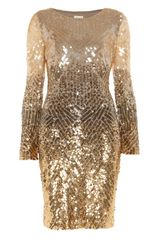 Temperley London Gold Leaf Dress in Gold - Lyst