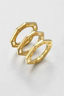 Tory Burch Audrina Octagon Stacking Rings - Lyst