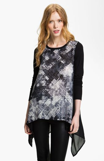 Trouvé Tech Print Drape Top - Lyst
