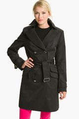 Vince Camuto Double Pocket Belted Trench - Lyst