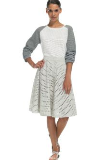 Yigal Azrouel Optic Perforated Cotton Waffle Knit Pullover - Lyst
