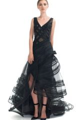 Zac Posen Resort Tiered Ruffle Evening Gown - Lyst
