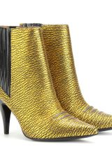 3.1 Phillip Lim Metallic Leather Ankle Boots - Lyst