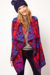 Asos Collection  Blanket Wrap Cardi in Multicolor (multi) - Lyst